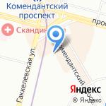 Детский сад №62 на карте Санкт-Петербурга