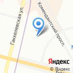 Приморский на карте Санкт-Петербурга