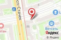 Схема проезда до компании Техком в Санкт-Петербурге