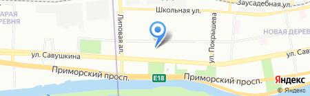 Балтинвестстрой на карте Санкт-Петербурга