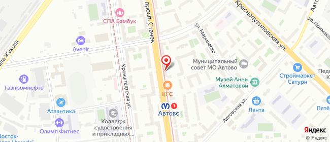 Карта расположения пункта доставки 220 вольт в городе Санкт-Петербург