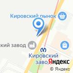 Кировский завод на карте Санкт-Петербурга