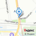 Под Мостом на карте Санкт-Петербурга