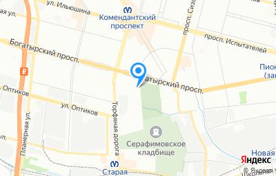 Местоположение на карте пункта техосмотра по адресу г Санкт-Петербург, пр-кт Богатырский, д 18