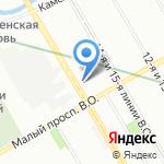 У Фонтана на карте Санкт-Петербурга
