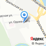 Аквамар на карте Санкт-Петербурга