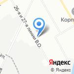 Базис Строй на карте Санкт-Петербурга