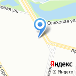 Август на карте Санкт-Петербурга