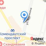 Мастеровой на карте Санкт-Петербурга