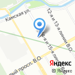 Радость на карте Санкт-Петербурга