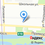 Северо-Западная оперативная таможня на карте Санкт-Петербурга