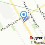 СПб Отели на карте Санкт-Петербурга
