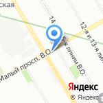 Центр наращивания ресниц на карте Санкт-Петербурга