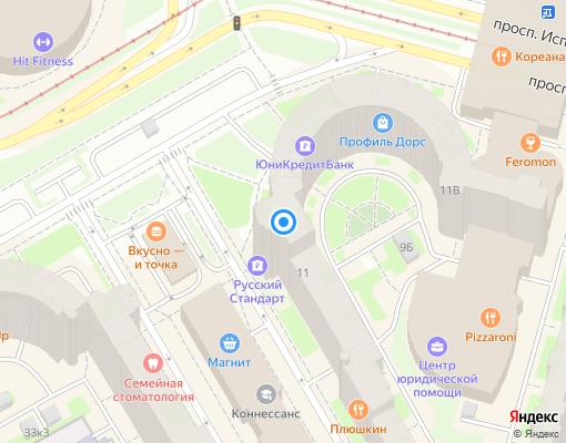 Товарищество собственников жилья «Приморское» на карте Санкт-Петербурга