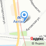Ясень на карте Санкт-Петербурга