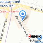 Л`Этуаль на карте Санкт-Петербурга