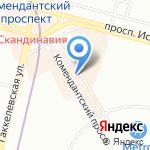 Променад на карте Санкт-Петербурга