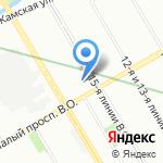 Авангард Авто Тур на карте Санкт-Петербурга