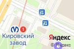 Схема проезда до компании Ателье в Санкт-Петербурге