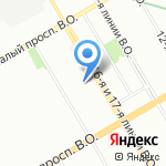 Невзрослые на карте Санкт-Петербурга