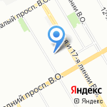 Зоофарм на карте Санкт-Петербурга