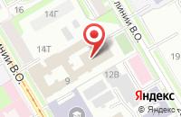 Схема проезда до компании Принтекс в Санкт-Петербурге