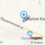 Малое Карлино на карте Санкт-Петербурга