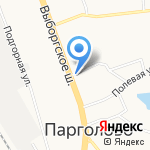 Парголовский на карте Санкт-Петербурга