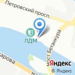 Петровский коттедж на карте Санкт-Петербурга