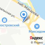 Онима на карте Санкт-Петербурга