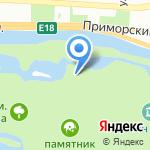 Творческая дача на карте Санкт-Петербурга
