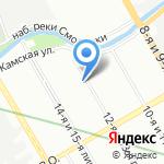 Кросно на карте Санкт-Петербурга