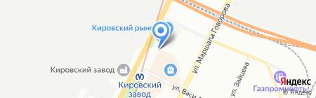 Шиномонтажная мастерская на проспекте Стачек на карте Санкт-Петербурга