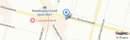 Дубы-колдуны на карте Санкт-Петербурга