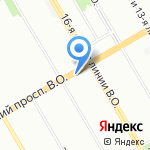Мир Цветов на карте Санкт-Петербурга