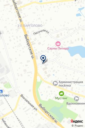 Тёплый Угол на карте Санкт-Петербурга