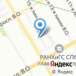 Центр социальной помощи семье и детям Василеостровского района на карте Санкт-Петербурга