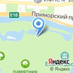 Зимний каток на карте Санкт-Петербурга