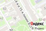Схема проезда до компании Capriccio в Санкт-Петербурге