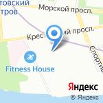 Ариал-шар на карте Санкт-Петербурга
