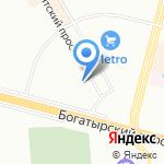 Панжур на карте Санкт-Петербурга