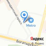 Муха-Цокотуха на карте Санкт-Петербурга