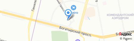 Дэлек на карте Санкт-Петербурга