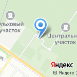 Южное кладбище на карте Санкт-Петербурга