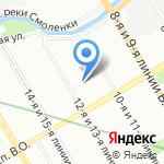 Общежитие на карте Санкт-Петербурга