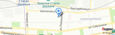 Приморский Простор на карте Санкт-Петербурга
