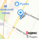 Таеквондо2000 на карте Санкт-Петербурга