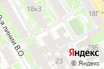 Схема проезда до компании Оверс в Санкт-Петербурге