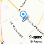 Заря на карте Санкт-Петербурга