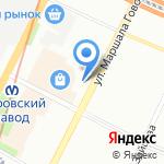Фокус на карте Санкт-Петербурга